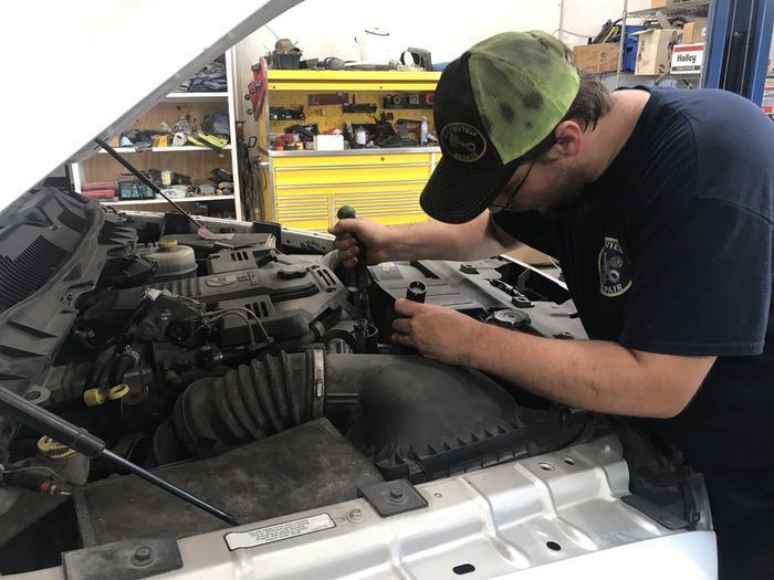 Carl Bozeman working on a 2012 6.7 Cummins water pump failure… in Lakeview Arkansas